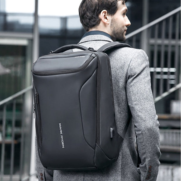 Multifunctional 33L Large-capacity Backpack, with Streamlined Shape, Waterproof Design, 12 Types of Storage Compartments, 180°Opening, Independent Computer Compartment, USB Charging Port