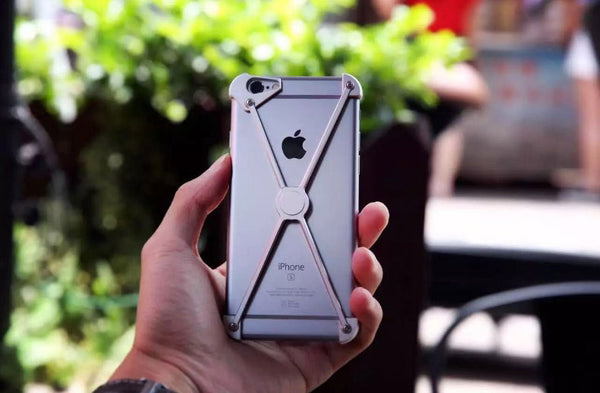 Super Cool X-shaped Case That Retains the Original Luxurious Look of iPhone