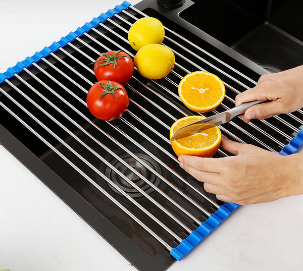 Stainless Steel Foldable & Detachable Drain Rack, Your Kitchen Helper