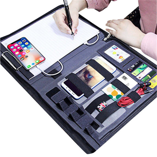 All-In-One Folder: Power Bank+Phone Mount+Card Slot+Laptop Organizer+More