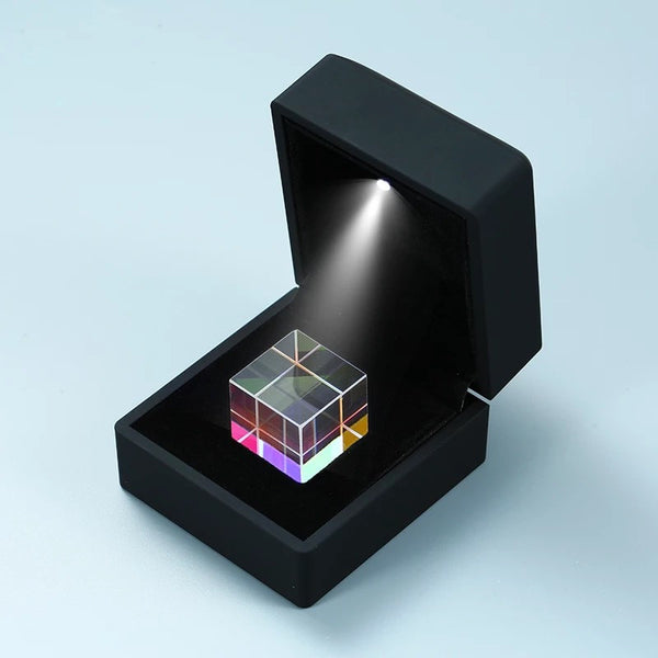 6-Sided Color-collecting Prism Light Cube, with Light Box, Home Decoration and Best Gift for Birthday, Holidays & Anniversary