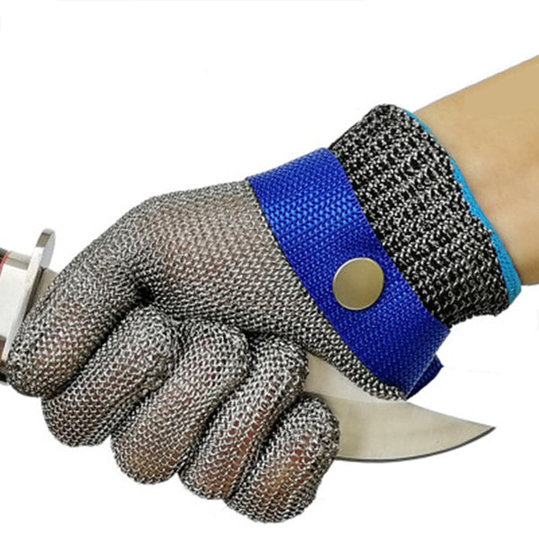 Stainless Steel Cut Resistant Glove, for Clothing Cutting, Meat Cutting, Aquatic Processing, Fishing and Daily Cutting (1 Glove)
