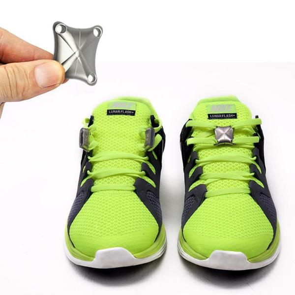 Newer Version Magnetic Shoe Closures - Enjoy Simple Shoe Wearing and Never Tie Your Laces Again