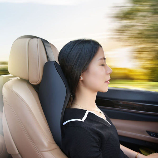 Car Neck/Lumbar Pillow With Ergonomic Design, Thick 3D Design,  Fit Body Curve & Major Car Seat,For Neck Pain Relief & Head Rest