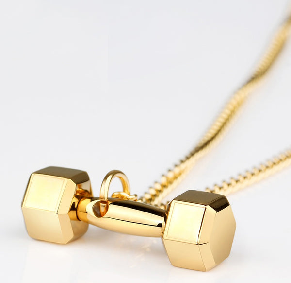 Coolest Dumbbell Necklace for Fitness Lovers