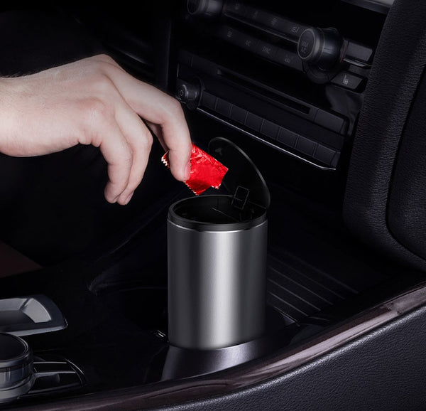 Car Mini Trash Can With Trash Bags For Car, Office & Home