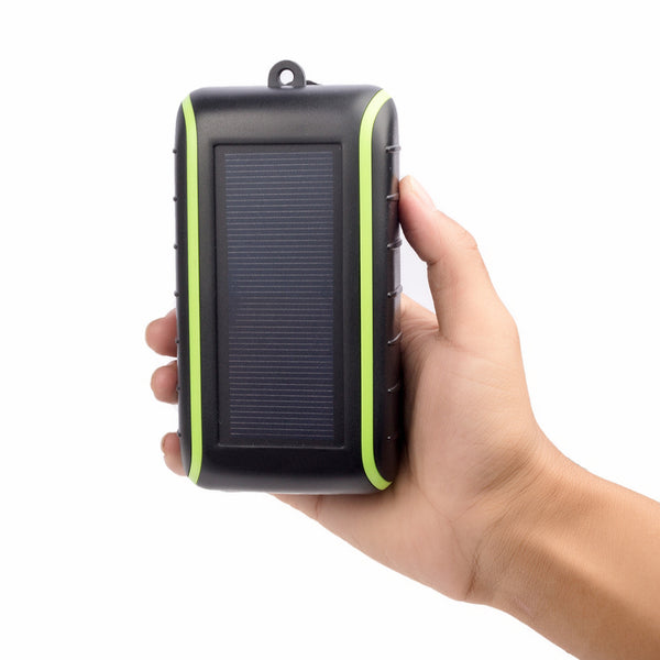 3-in-1 Solar Power Bank, Hand-Crank Power Generator & Flashlight - Power & Light on the Go