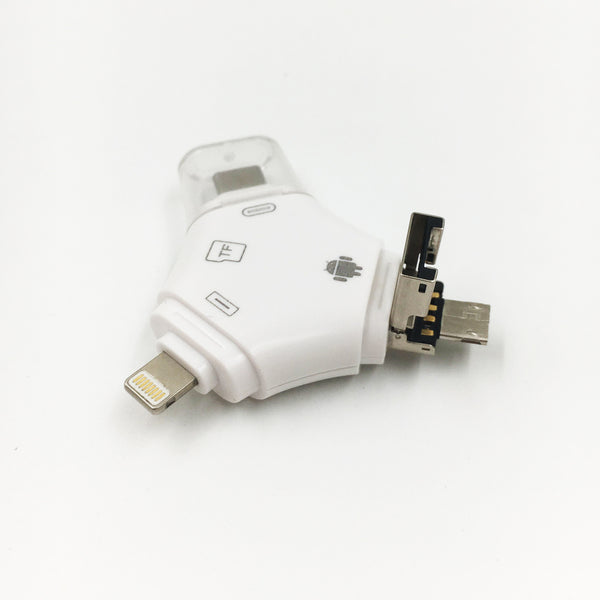 4-In-1 USB Reader And Flash Drive - Connect And Store Everything On A Single Piece