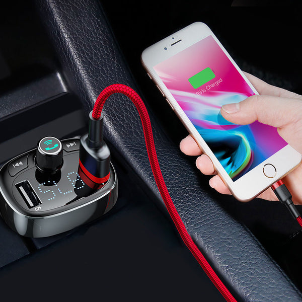 Eliminate Clutter in Car with Bluetooth Speaker & Dual USB Charger