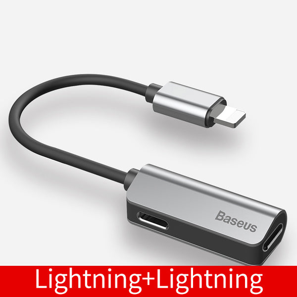 Lightning to Lightning/3.5mm Headphone Jack Adapter - Charge Your iPhone and Listen to Music!
