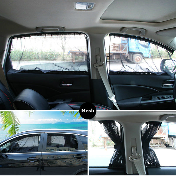 Universal Adjustable Car Window Curtain With Orbits: Install Once, Enjoy Lifetime
