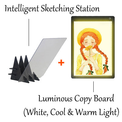 Intelligent Reflection Drawing Board With APP Control, For Adults, Kids, Home, School & Office