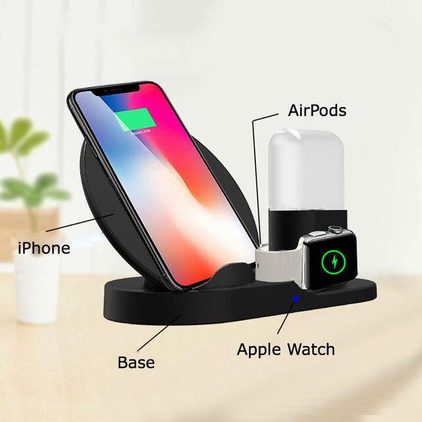 The Ultimate 3-in-1 Charge Station for Apple Users