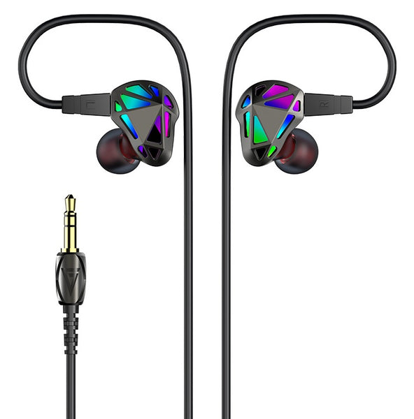 Coolest Mix-Driver HIFI Earphones with Dynamic and Balanced Armature Drivers