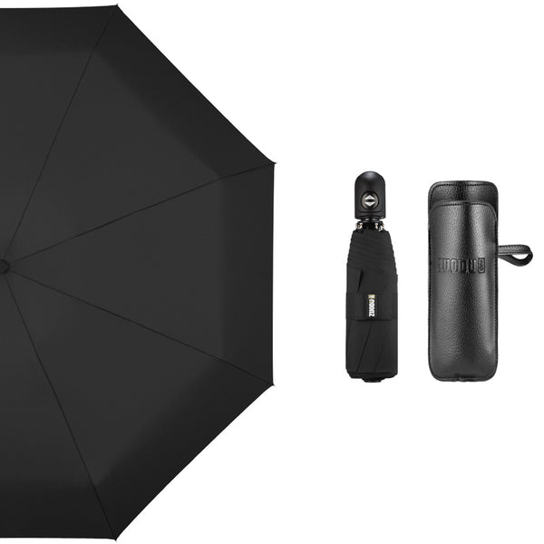 Super Portable Auto Open/Close Windproof Umbrella with 12 Ribs, 5-Fold & Ergonomic Handle
