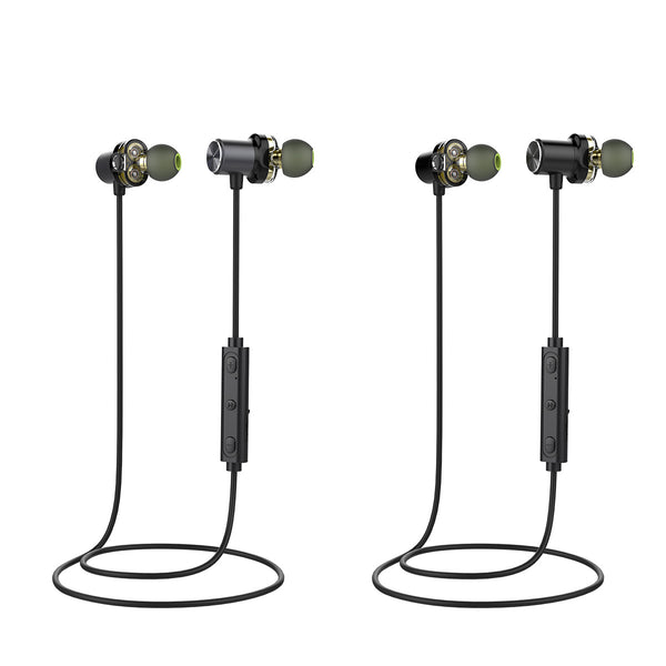 Feather Weight Magnetic Wireless Bluetooth Dual-driver Earphones - Seamless Sound without Compromises