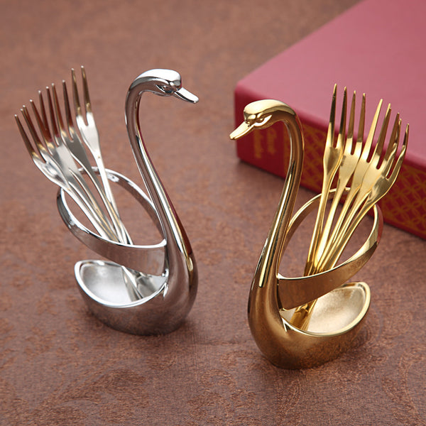 Elegant Swan Shaped Fork Holder: Fashion, Unique & Classic