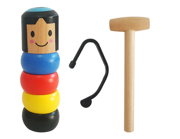 Magic Unbreakable Wooden Man, with Invisible Line, for Magic Show, Party Show and More