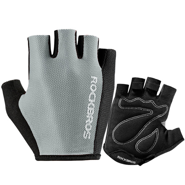 Summer Breathable Fingerless Cycling Sports Gloves, with Anti-Slip Shock-Absorbing Pad and Lightweight Design, for Hiking. Biking. Climbing. For Men & Women (1 Pair)