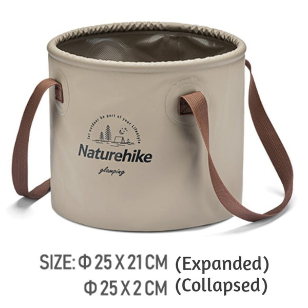 Portable Collapsible Bucket, for Camping, Hiking, Fishing & Travelling