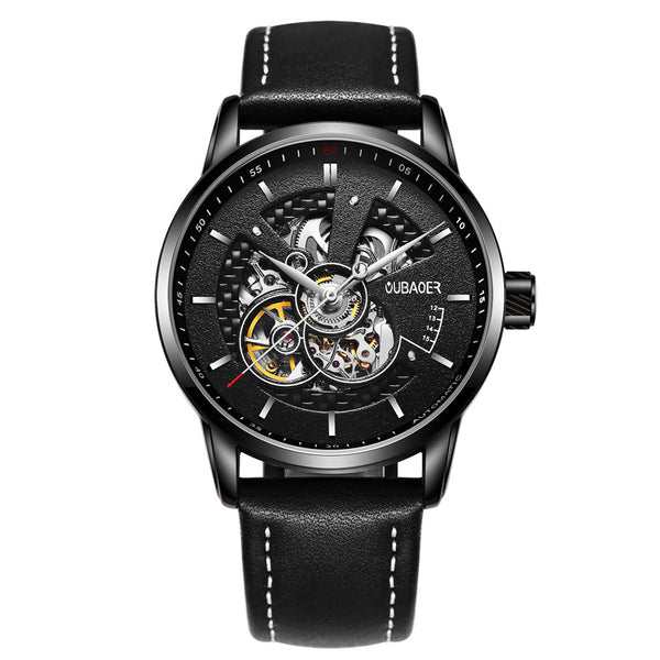 Mechanical & Automatic Skeleton Watch with Visible Gears