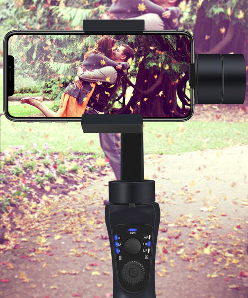 Three-axis Stabilized Phone/Camera Holder, with Stabilizer, Automatic Recognition Tracking, One-button Control and Multiple Shooting Modes, for Shooting Photos and Video