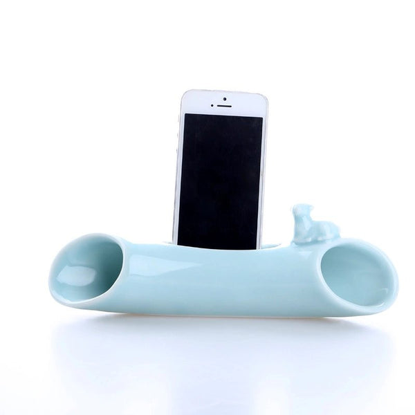 The World's Coolest Celadon Mobile Phone Sound Amplifier & Stand Dock