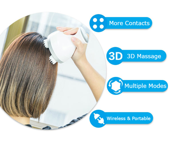Rechargeable & Waterproof Multifunctional 3D Home Cat Claw Scalp Massager, For White-collars, Students, Housewives & Seniors