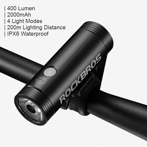Bike Flashlight, with 400/800 Lumens, Waterproof, Rechargeable and Anti-rust Design
