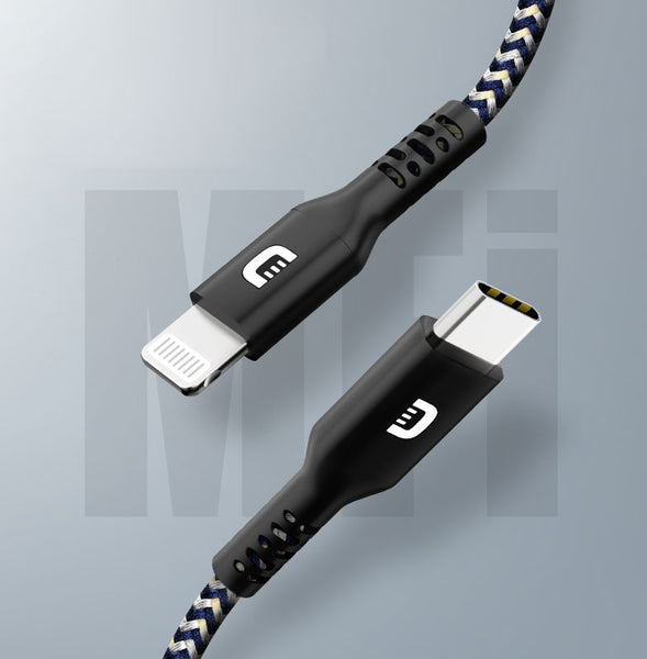 Apple Mfi Certified PD Fast Charging Cable, with Type-C to Lightning Connector, for iPhone & iPad (1m)