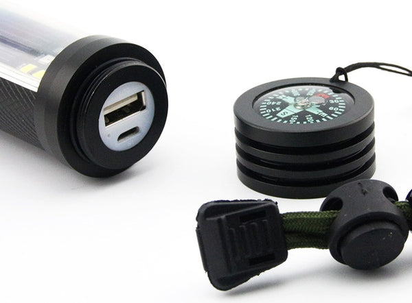 Solar Powered Survival Flashlight