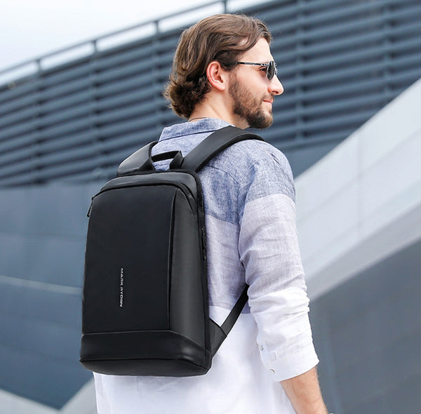 High-capacity Ultra-thin Laptop Backpack, with Multiple Compartment Design, Waterproof Fabric, Special Laptop Layer and Breathable Back Pad, Suitable for 15.6'' Laptop and 12.9'' Tablet