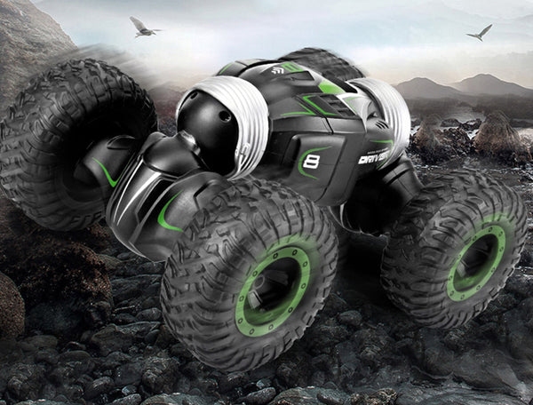 Rechargeable 4WD Stunt Off-road Remote Control Car with Lithium Battery, Rubber Vacuum Tires, Suitable for Driving on Various Bumpy Roads, for Adults and Children
