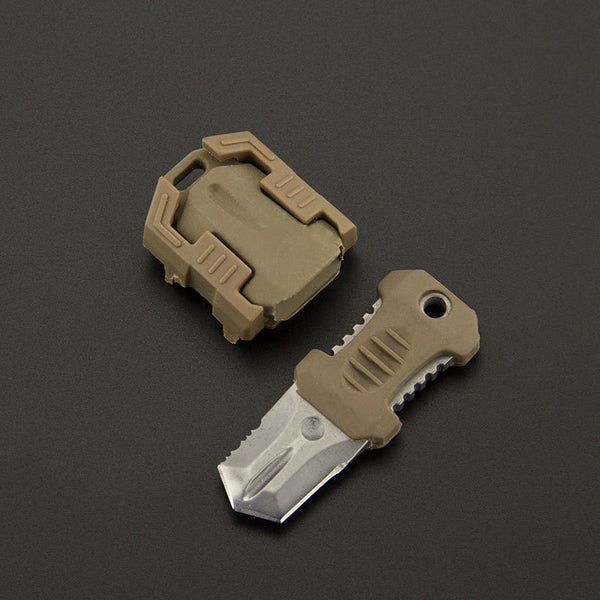 Toothed Edge Stainless Steel All-purpose Mini Knife Built For Tough Jobs