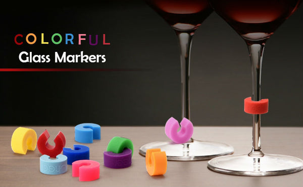 Get Your Cup Of Wine: Colorful Glass Markers