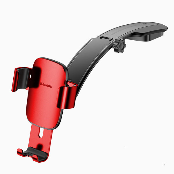 Versatile Dashboard Car Gravity Phone Mount, with Spring-loaded Arms & Adjustable Design, for All Vehicles