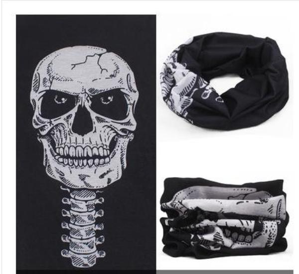 Gothic Skull Scarf for Lady or Gentleman with a Dark Side