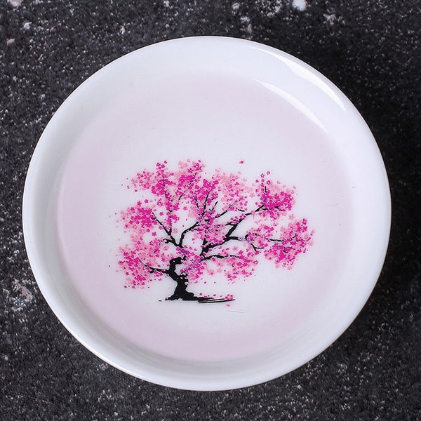 Blossom Printing Ceramic Heat Sensitive Color Changing Bowl, Best Gift for Holidays, Birthday, Wedding and More