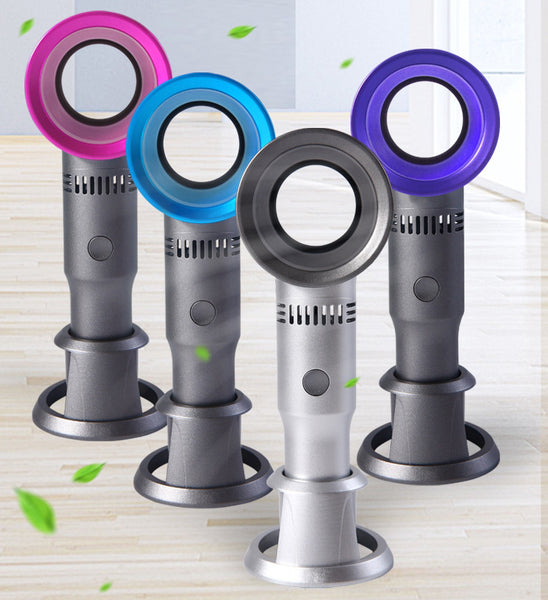 Portable USB Rechargeable No-blade Fan, Strong Wind Without A Blade