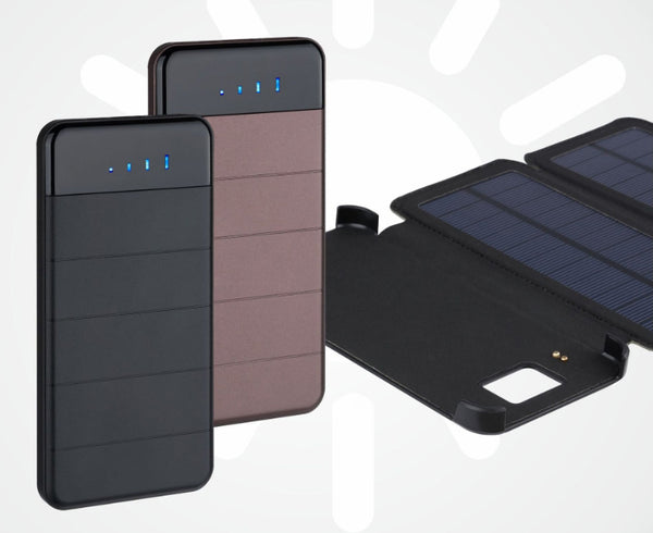 10000mAh Portable & Foldable Solar Power Bank With 5V/2A Outputs, Compatible With Smart Phones, Tablets & More