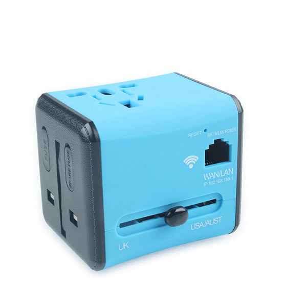 All-in-one Dual-port Travel Adapter with WIFI - Stay Connected Anywhere Anytime