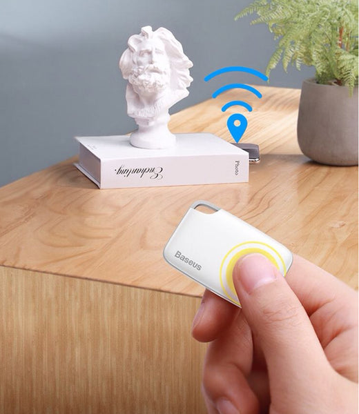 Ultra-thin Card-shaped Smart Bluetooth Anti-lost Alarm with Real-time Monitoring, Two-way Alarm, for Phone, Key, File & More