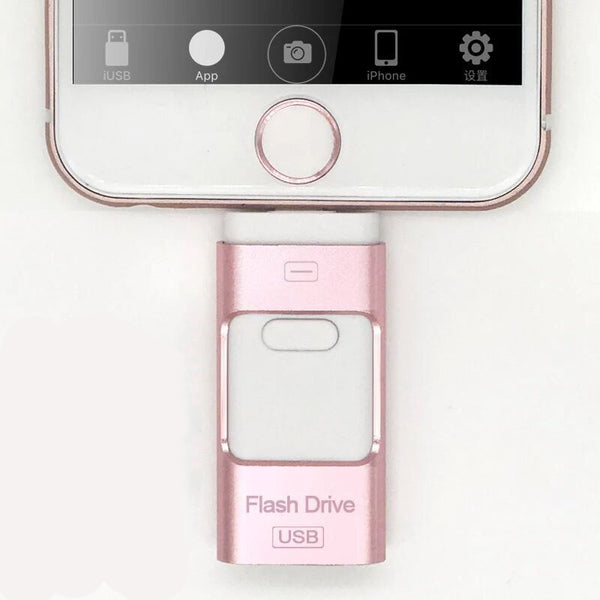 Three-In-One USB Flash Drive - Connect And Store Everything On A Single Piece