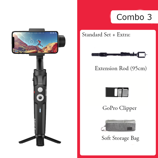 Mini Anti-shake Selfie Stick with Folding Storage, Three-axis Stabilization System, Object Tracking, Time-lapse Photography, Suitable for Professional or Daily Photography