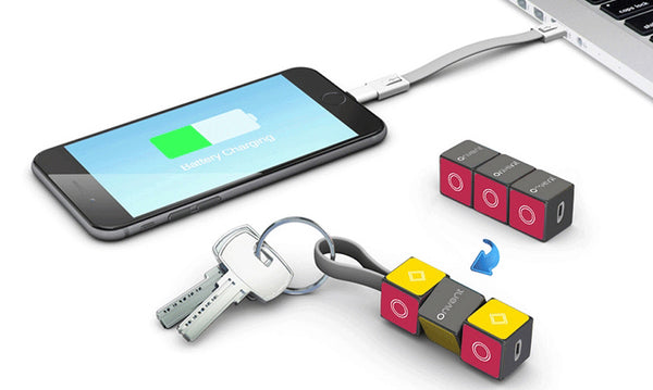 Magic Cube Keychain Micro-usb & Lightning Cable