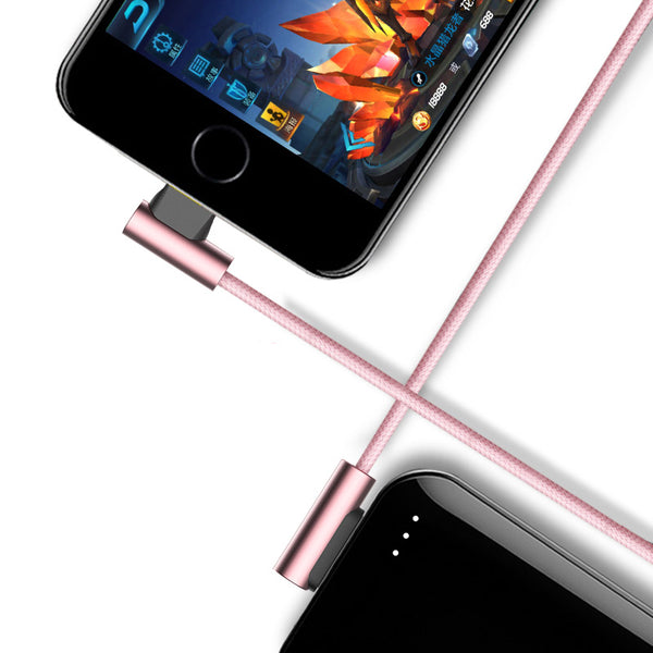 Reversible Dual-End L-Shaped Lightning Cable For Phone Addict