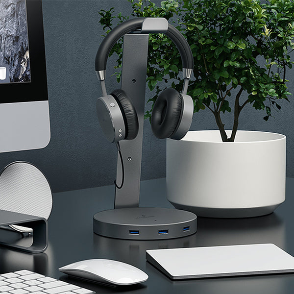 The Amazing 3-Port USB3.0 Hub with Headphone Stand