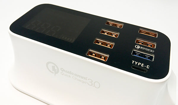 Smart 8-Port USB & Type-C Quick Charge Station - Charge Faster, Smarter and Safer