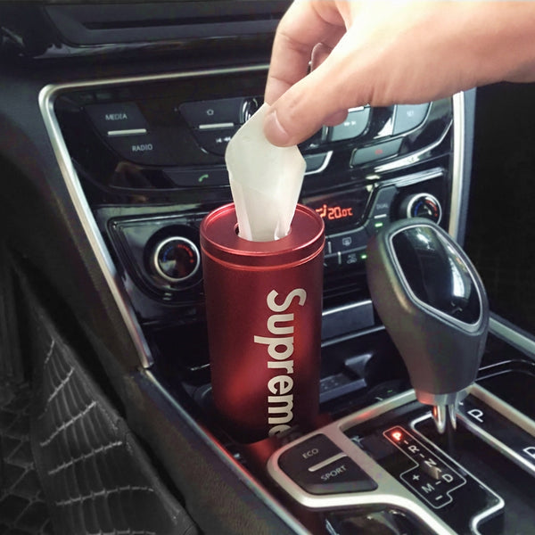 Super Slim Cylinder Car Tissue Box, Fits The Cup Slot & Car Gate Slot