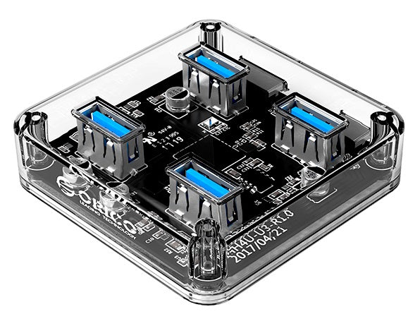 The Coolest Full Transparent 4-Port USB3.0 HUB